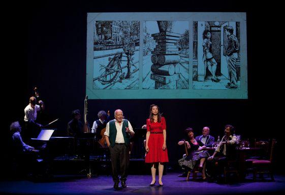 Voorstelling in Kleine Komedie t.g.v. tentoonstelling Sterke Verhalen, 2014. Foto: Marc Kruse.