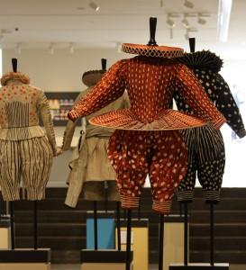 Kostuums van Rien Bekkers in de tentoonstelling Dromen van Shakespeare
