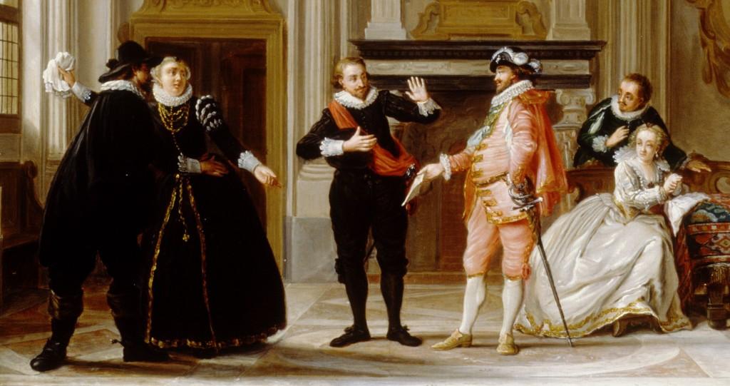 Detail van het schilderij van Nicolaas Muys.
