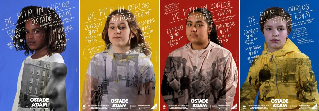 Ostade A'dam, De Pijp in Oorlog (serie affiches), ontwerp LopezLab (Mariola Lopez), fotografie Monica Ragazzini (4 van de serie van 8 affiches)