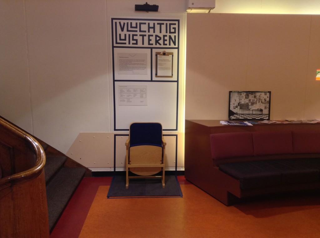 De installatie van het Geluidsarchief in de Nieuwe Doelenstraat.