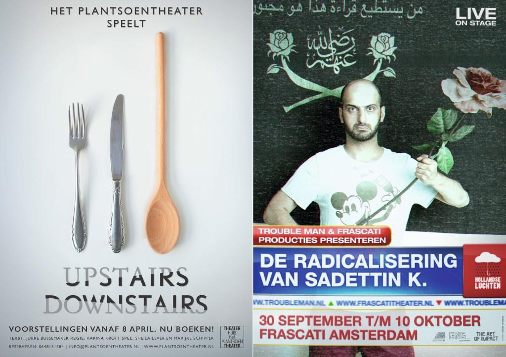 Bijzondere vermelding voor het affiche van Upstairs Downstairs (Het Plantsoentheater), ontwerp Soeraya Siemons; en voor het affiche van De radicalisering van Sadettin K (Trouble Man), ontwerp Joost de Haas.