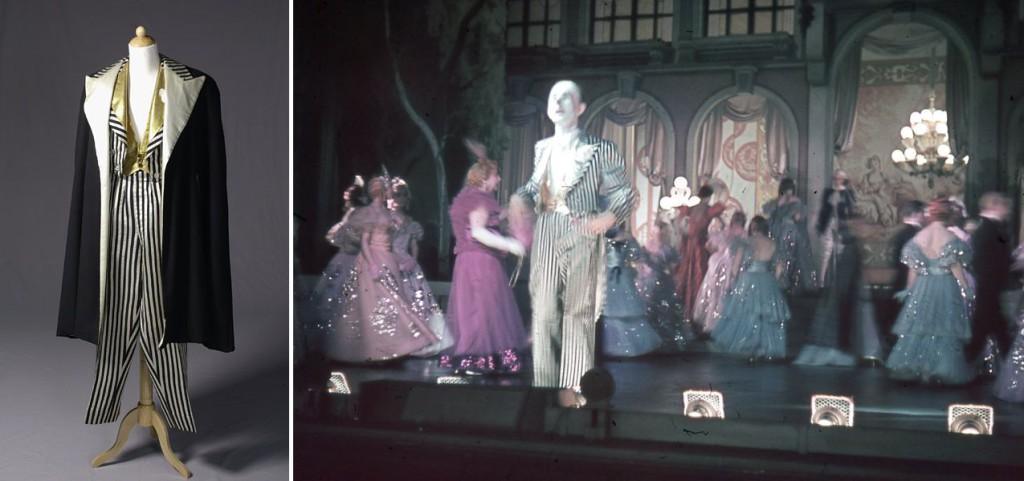 Kostuum van Johan Buziau als de miljonair in de de revue Jolijt, 1939/1940; Foto van de voorstelling. Foto: Evert Deddes. Theatercollectie Bijzondere Collecties UvA (Stichting TiN).